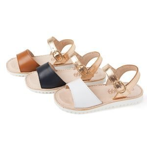 Sandalias para niñas de piel duo