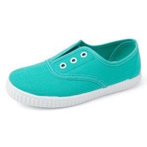 Compra zapatillas para niños de lona esmeralda