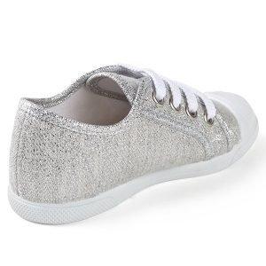 zapatillas para niña con brillo trasera