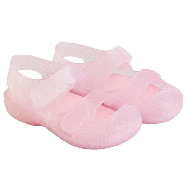 cangrejeras con velcro rosa