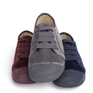 Zapatillas de terciopelo y puntera en zapaboo