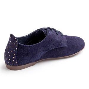 zapatos de cordones de serraje
