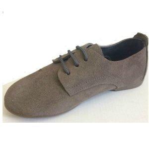 zapatos de cordones de serraje gris