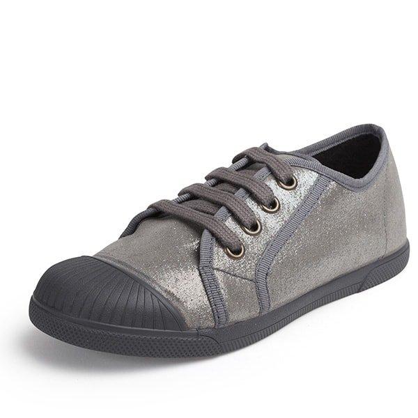 Zapatilla metalizada gris