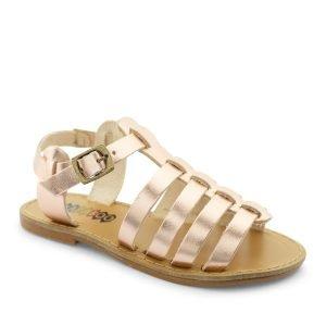 sandalias metalizadas para niñas