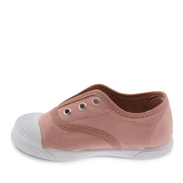zapatillas niña lona rosa