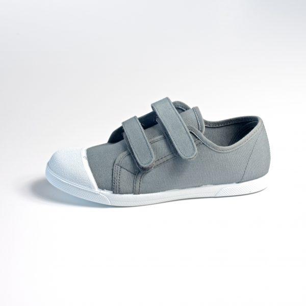 zapatilla niños de lona con cierre de velcro