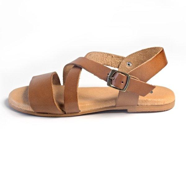 sandalias cruce piel mujer