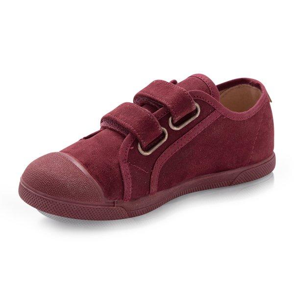 zapatillas niños burdeos autocierre