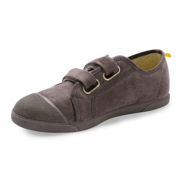 zapatillas niños gris velcro