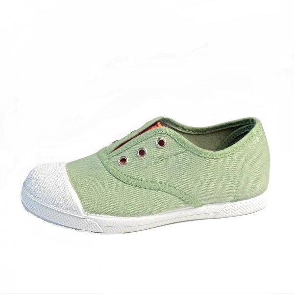 zapatillas niños lona verde